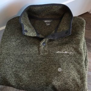NWT Eddie Bauer green grey fleece
